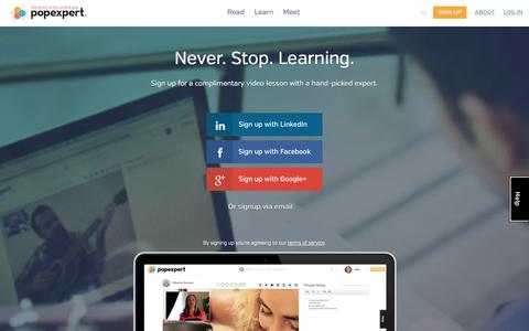 Screenshot of Signup Page popexpert.com - popexpert.com - captured Sept. 12, 2014