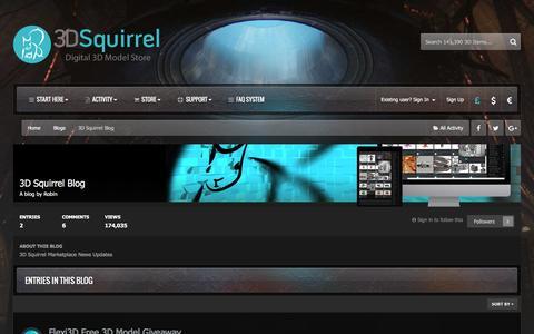 Screenshot of Blog 3dsquirrel.co.uk - 3D Squirrel  Blog - 3D Squirrel - captured Nov. 28, 2016