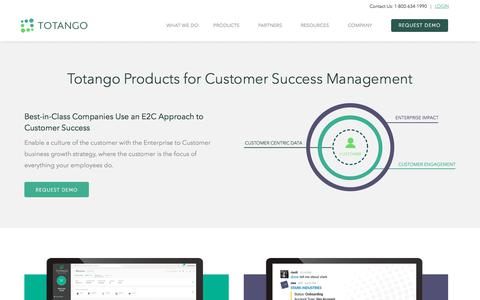 Screenshot of Products Page totango.com - Products | Customer Success Software | Totango - captured May 5, 2018