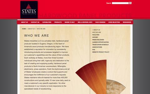 Screenshot of About Page statesind.com - States Industries - captured Oct. 7, 2014