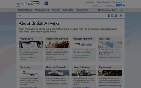 About BA | British Airways
