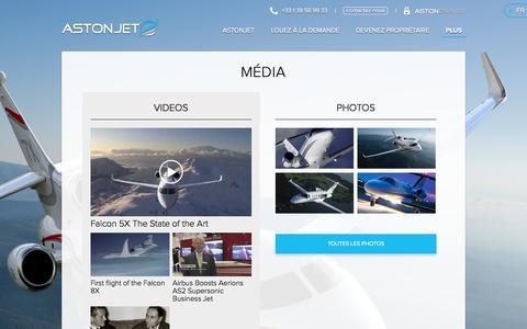 Screenshot of Press Page astonjet.com - Média | ASTONJET - captured Feb. 5, 2016