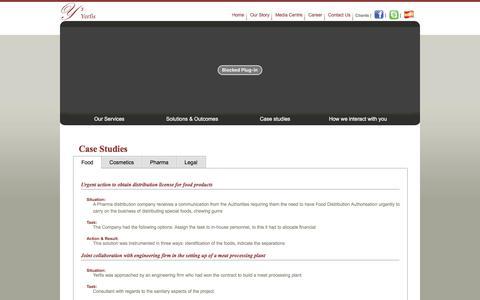 Screenshot of Case Studies Page yerfis.com - Yerfis :: Case Studies & Testimonials - captured Nov. 28, 2016
