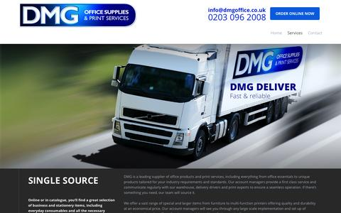 Screenshot of Services Page dmgoffice.co.uk - Services   DMG - captured Oct. 1, 2014