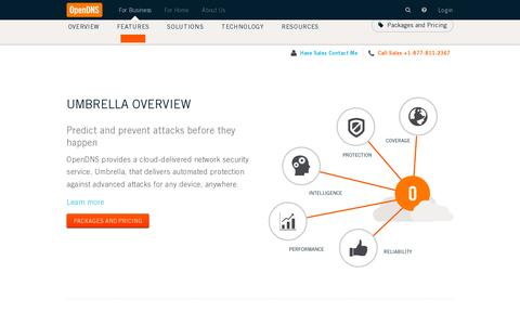 Screenshot of Products Page opendns.com - Business Product Overview | OpenDNS - captured July 20, 2014