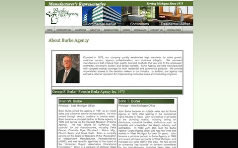Screenshot of About Page burkeagency.com - About Us - Burke Agency - captured Oct. 5, 2014
