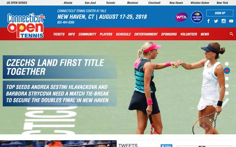 Screenshot of Home Page ctopen.org - Connecticut Open | Connecticut Open - captured Sept. 29, 2018