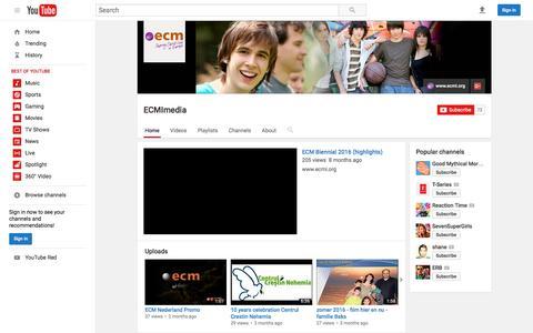Screenshot of Press Page youtube.com - ECMImedia  - YouTube - captured Jan. 29, 2017