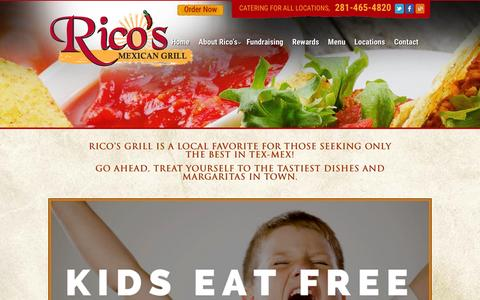 Screenshot of Locations Page ricosgrill.com - Locations - Ricos Mexican Grill - captured Feb. 9, 2016