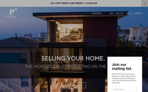 Screenshot of Services Page piertopierbrokers.com - Sell Your South Bay Home — Pier to Pier Brokers (P2PB) - captured Sept. 28, 2018