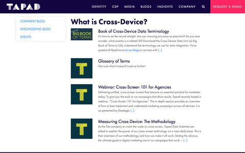 Cross-Device Advertising Resources | Tapad