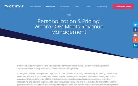Screenshot of Pricing Page cendyn.com - Personalization & Pricing: Where CRM Meets Revenue Management - Cendyn - captured Jan. 6, 2020