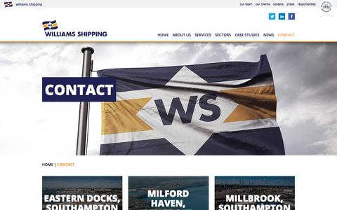 Screenshot of Contact Page williams-shipping.co.uk - Contact | Williams Shipping - captured Nov. 6, 2017