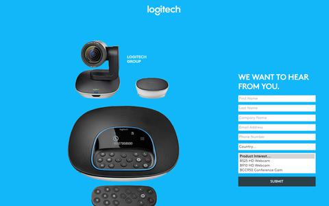 Screenshot of Landing Page logitech.com - Logitech | Contact Us - captured July 23, 2017