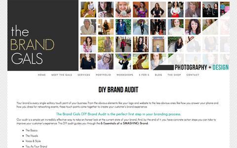 Screenshot of Signup Page thebrandgals.com - DIY Brand Audit - The Brand Gals - captured Oct. 1, 2014