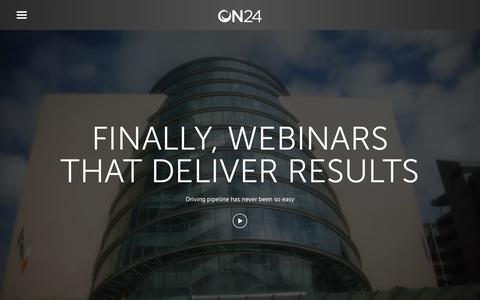 ON24 | Webinar Software and Virtual Training Products