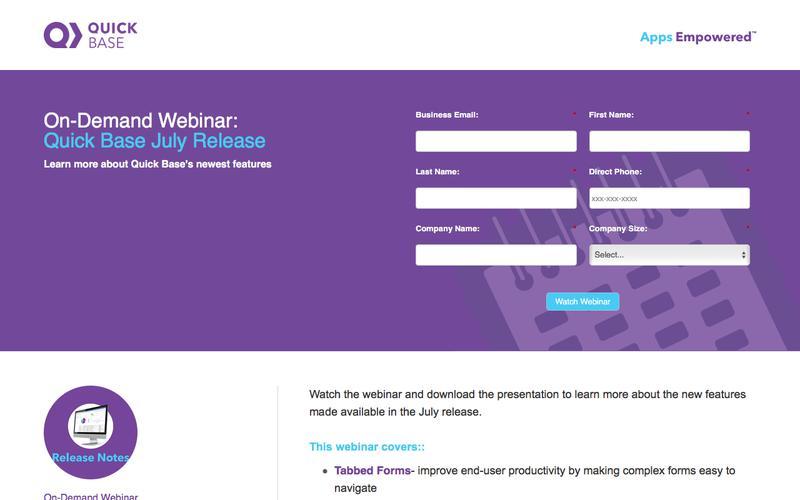 Quick Base Webinar