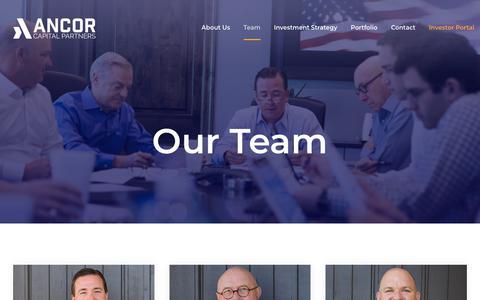 Screenshot of Team Page ancorcapital.com - Ancor Capital Partners - Ancor Team - captured Oct. 3, 2018