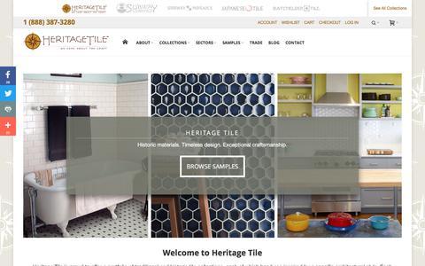 Screenshot of Home Page heritagetile.com - Heritage Tile - Tile for the Times - captured Aug. 5, 2017