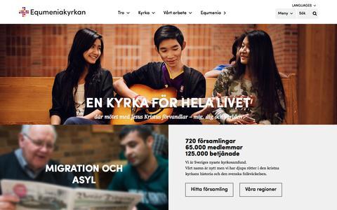 Screenshot of Home Page equmeniakyrkan.se - Equmeniakyrkan - captured Nov. 9, 2016
