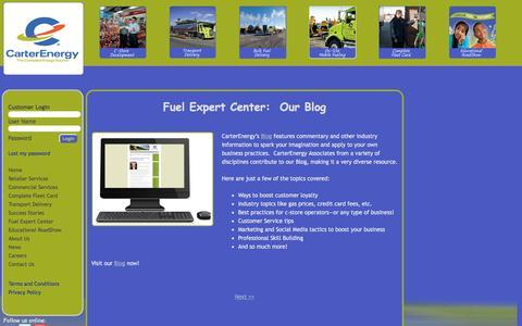 Screenshot of Blog carterenergy.com - CarterEnergy Blog – Fuel Industry Insights, Best Practices, Professional Skills - captured Dec. 2, 2016