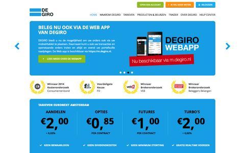 Wereldwijd beleggen tegen lage kosten | online Broker DEGIRO