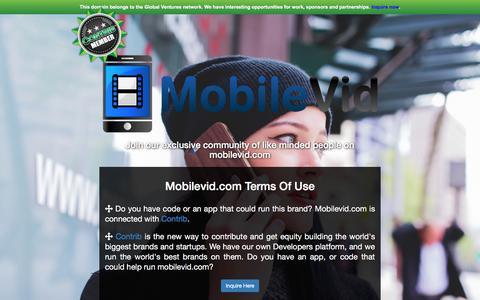 Screenshot of Developers Page mobilevid.com - Mobilevid.com - captured June 16, 2017