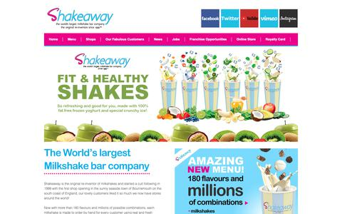 Screenshot of Home Page Terms Page shakeaway.com - World's Largest Milkshake Bar Company | Shakeaway - captured Dec. 20, 2018
