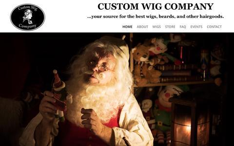 Screenshot of Home Page customwigcompany.com - The finest custom built wigs and facial hairCustom Wig Company - captured May 24, 2017