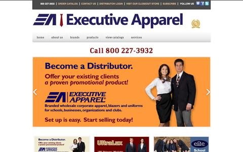 Screenshot of Home Page executiveapparel.com - Executive Apparel - captured Dec. 14, 2015