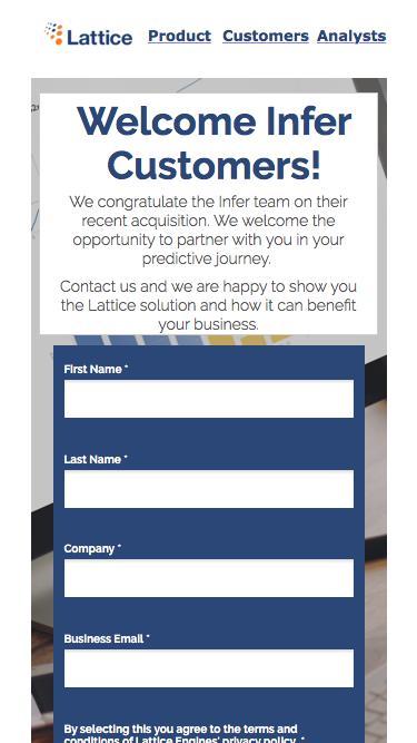 Infer Customers
