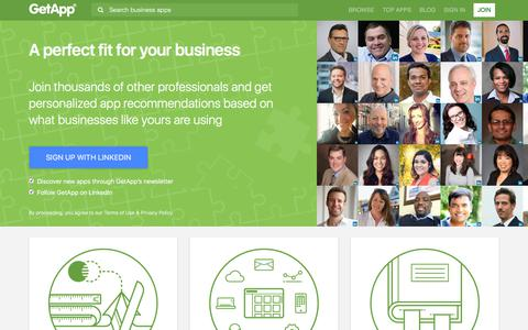 Screenshot of Signup Page getapp.com - A perfect fit for your business   GetApp - captured June 17, 2017
