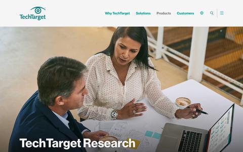 TechTarget Research - Built on Behavioral Data - TechTarget