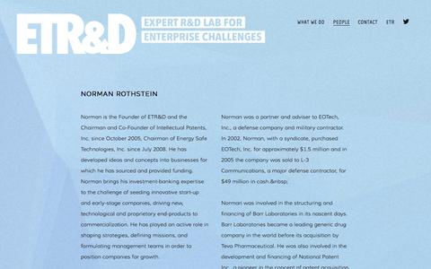 Screenshot of Team Page etrd.com - People — ETR&D - captured Sept. 27, 2014
