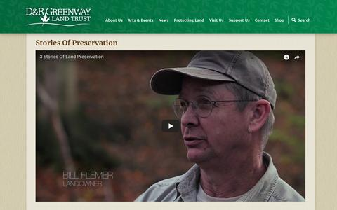 Screenshot of Case Studies Page drgreenway.org - Stories of Preservation – D&R Greenway - captured Sept. 30, 2018