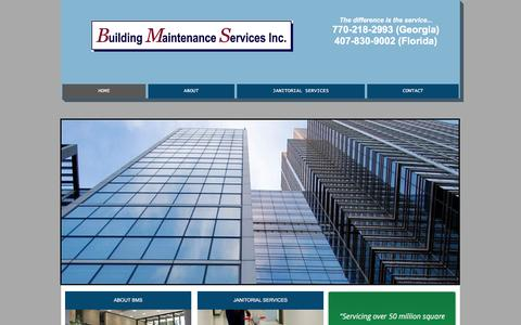 Screenshot of Home Page bmsinc.us - Building Maintenance Services, Inc. - captured Feb. 8, 2016
