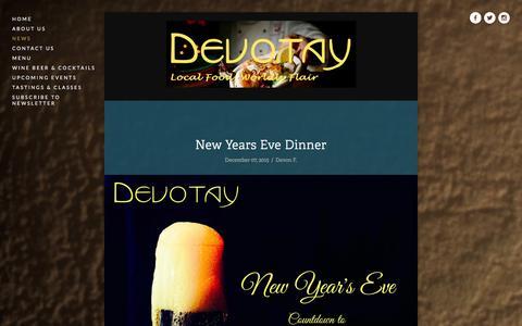 Screenshot of Press Page devotay.net - News Ń Devotay - captured Jan. 7, 2016