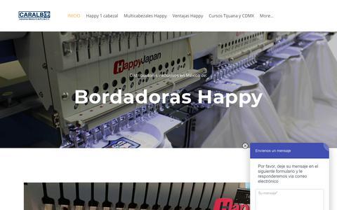 Screenshot of Home Page maquinasbordadoras.com - MAQUINAS BORDADORAS - MAQUINAS DE BORDAR - Maquinas Bordadoras - Bordadoras Industriales, Maquinas de Bordar HAPPY - Bordadoras Usadas Tajima Brother SWF Camfive Feiya Aemco Barudan y mas - captured April 20, 2018