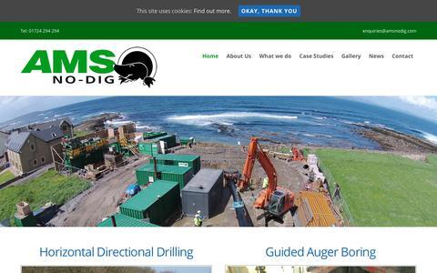 Screenshot of Home Page amsnodig.com - Home - AMS No-Dig Ltd - captured Oct. 7, 2017