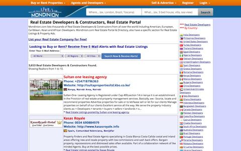Screenshot of Developers Page mondinion.com - Real Estate Developers & Constructors, Real Estate Portal - Mondinion.com Global Real Estate - captured Oct. 26, 2014