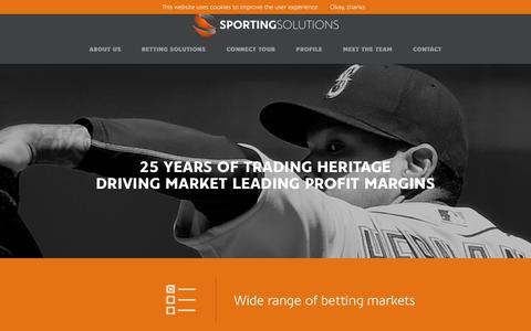 Screenshot of Home Page sportingsolutions.com - Sporting Solutions - captured Nov. 6, 2017