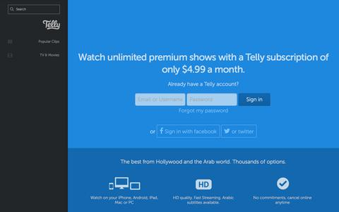 Screenshot of Login Page telly.com - Telly - Sign in to Telly - captured July 13, 2018
