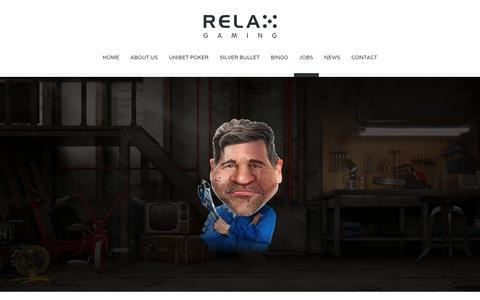 Screenshot of Jobs Page relax-gaming.com - JOBS - Relax Gaming Ltd. - captured Dec. 2, 2016