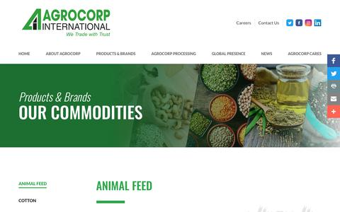 Screenshot of Products Page agrocorp.com.sg - Products & Brands - captured Oct. 7, 2017