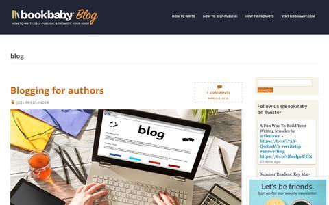 Screenshot of Blog bookbaby.com - blog | BookBaby Blog - captured Feb. 27, 2017