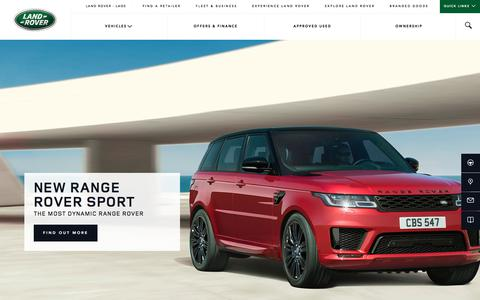 Screenshot of Home Page landroverlaos.com - Compact, Luxury SUV   4x4 OffRoad Car   Range Rover   Land Rover Laos - captured Sept. 25, 2018