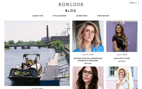 Screenshot of Blog bonlook.com - Blog | BonLook - captured Aug. 3, 2018