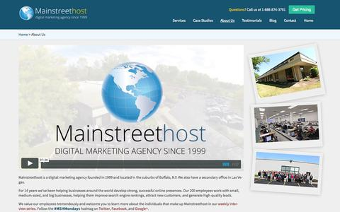 Screenshot of About Page mainstreethost.com - About Mainstreethost | Buffalo, NY Based Digital Marketing Agency - captured Sept. 23, 2014