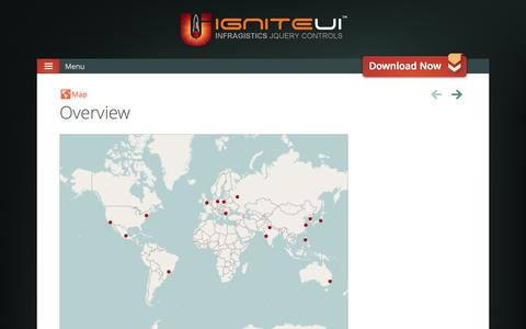Screenshot of Maps & Directions Page igniteui.com - Map Control - jQuery Map Component - Ignite UI™ - captured Oct. 31, 2014