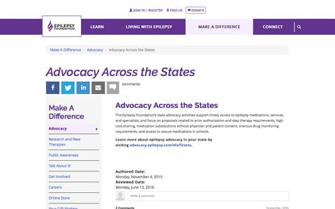 Advocacy Across the States | Epilepsy Foundation